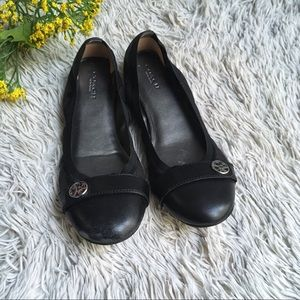 Coach Chelsea all black ballet flat size 7.5